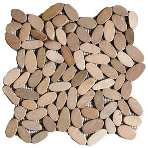 Pebbles sliced tile tan 30x30