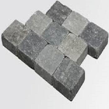 BETONKLINKER - getrommeld 15x15 - dikte: 5cm. | pavés tambourinés